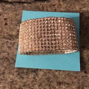 Elegant 10 row costume diamond bracelet gorgeous